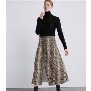 Zara Skirts - NWT ZARA Snake Print Skirt Sz Med